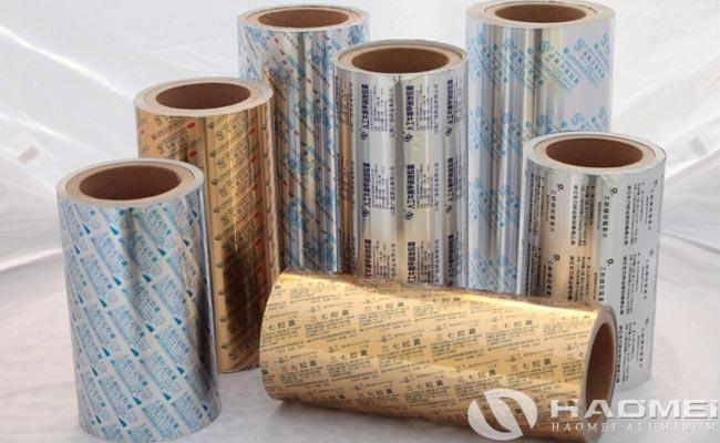 aluminum packaging for pharmaceutical